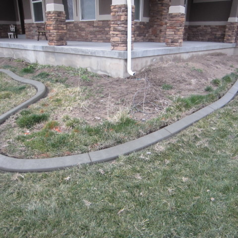 Front Porch Curbing